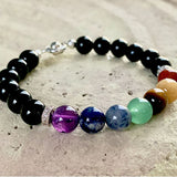 Black Onyx Natural Gemstone Bracelet