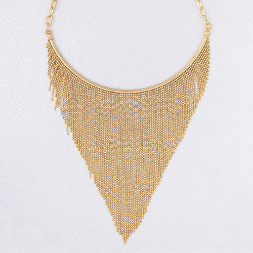 Multi-strand Beaded Vermeil Necklace