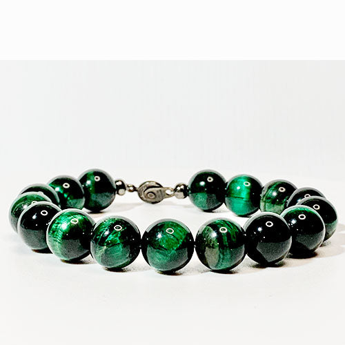 Classic Green Tiger Eye Bracelet