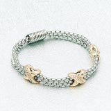 Kisses Two Toned Bracelet