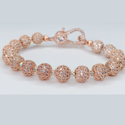 Pave Rose Gold Bracelet