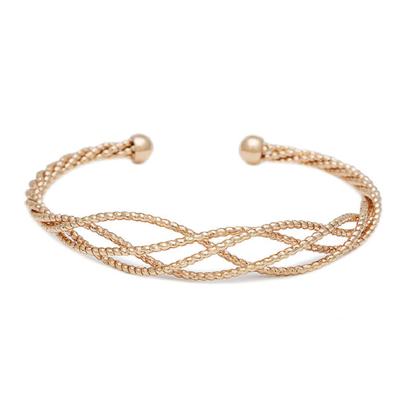 Braided Graduated Open Bangle