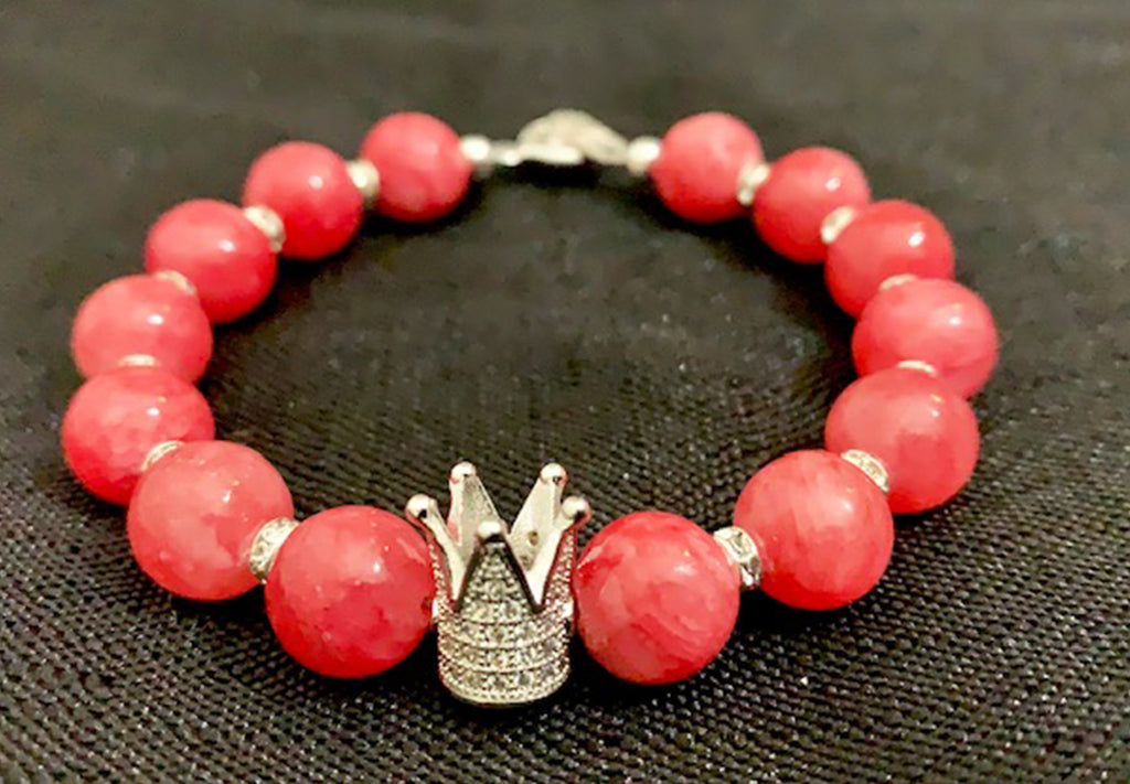 Coral Candy Crown Bracelet