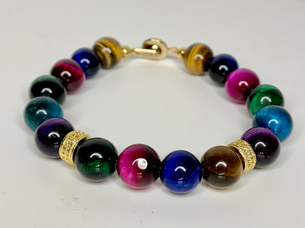 Multi-Color Tiger Eye Bracelet
