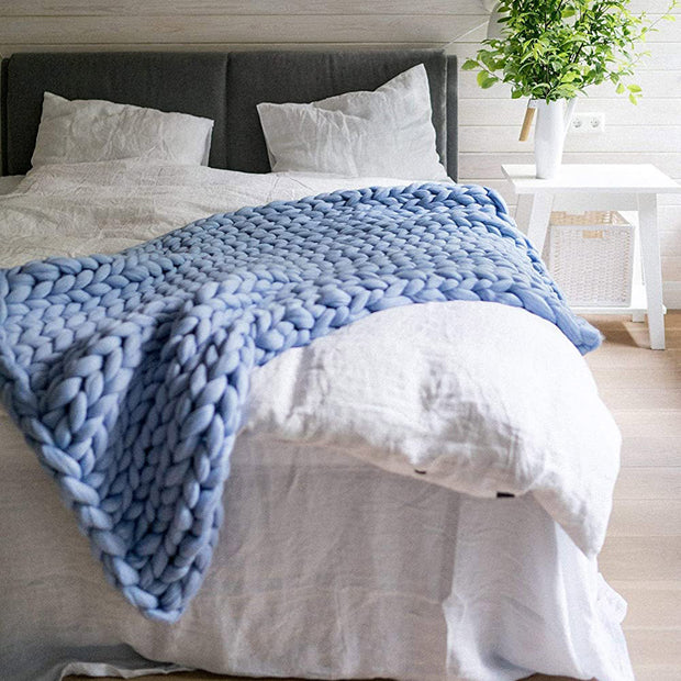 Abbey Chunky Knitted Throw Blanket