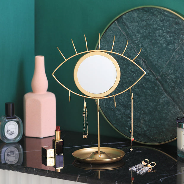 Remi Gold Mirrored Jewelry Stand