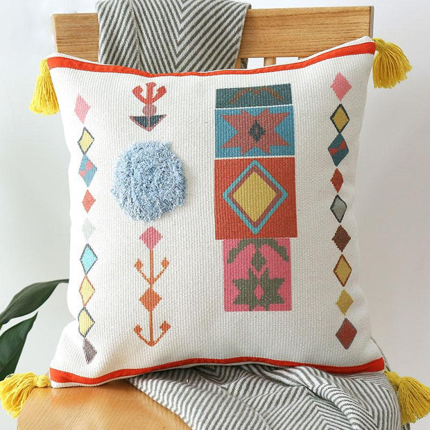 Alae Moroccan Tufted Throw Pillow Cover - Unwindin