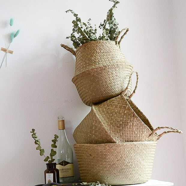 Alexis Seagrass Storage & Planter Basket - Unwindin