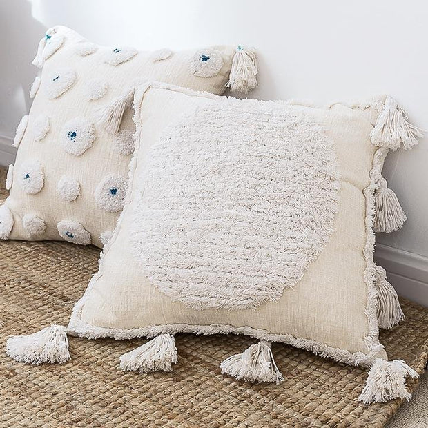 Bijou Moroccan Tufted Throw Pillow Cover - Unwindin