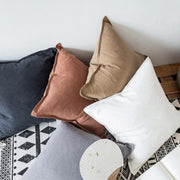 Cleo Cotton Linen Throw Pillow Cover - Unwindin