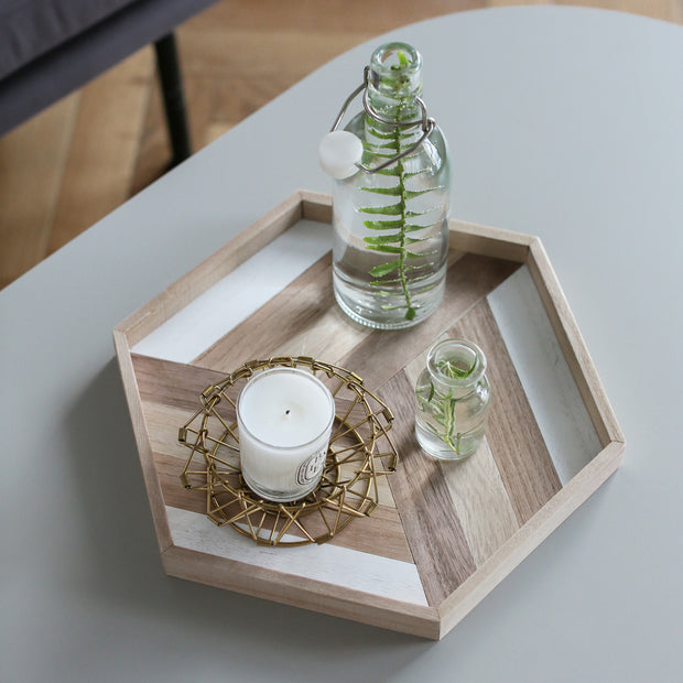 Finley Geo Wooden Serving Tray