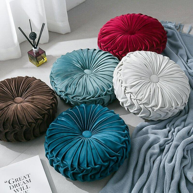 Kali Velvet Pleated Cushion - Unwindin