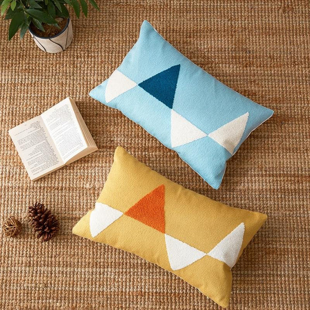 Maisy Abstract Geo Throw Pillow Cover - Unwindin