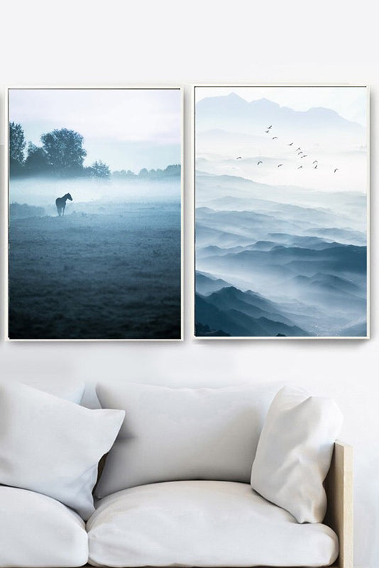 'Misty Wilderness' Cotton Canvas Print