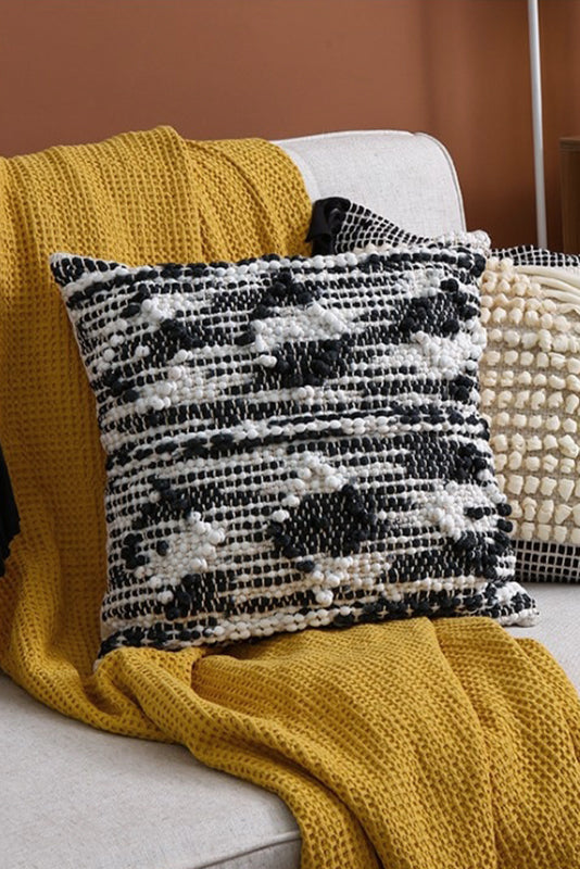 Otto Handwoven Embroidered Pillow Cover