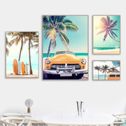 'Endless Summer in Cali' Cotton Canvas Print