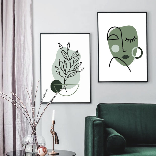 'Olive Beauty' Cotton Canvas Print