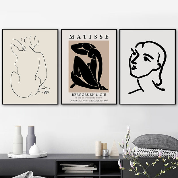 'Vintage Matisse Remake I' Cotton Canvas Print