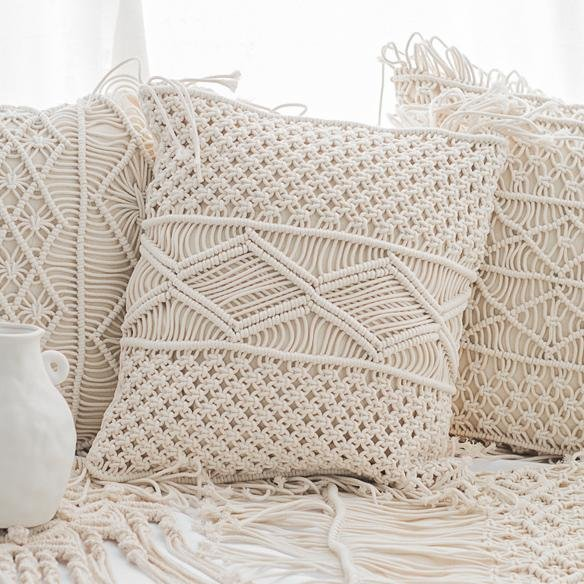 Safaa Macrame Throw Pillow Cover - Unwindin