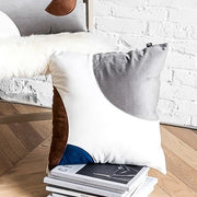 Savannah Velvet Geo Throw Pillow Cover - Unwindin