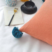 Sterling Pom-pom Throw Pillow Cover - Unwindin