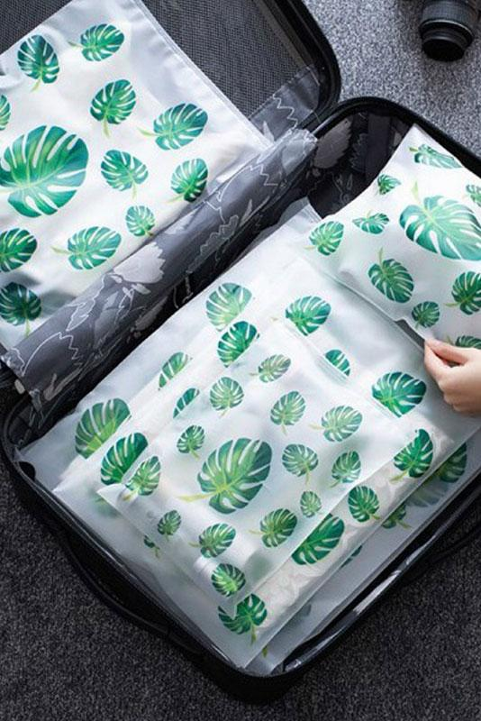 Tropical Travel Packing Pouches (5-Pcs Set) - Unwindin