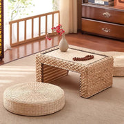 Yui Japanese-Inspired Natural Straw Tatami Pouf - Unwindin
