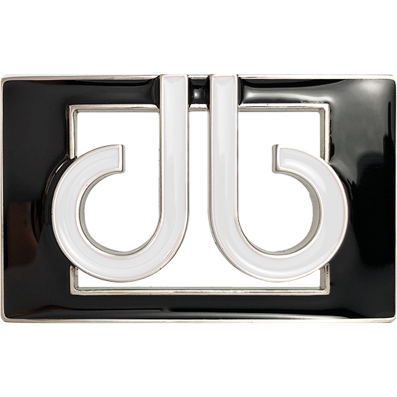 db Colour Thru Buckle - Black/White