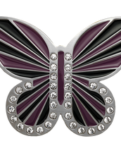 Black and Purple Butterfly Buckle