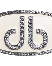 Druh Db Diamante White Buckle