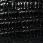 Black Lizard Textured Leather Belt