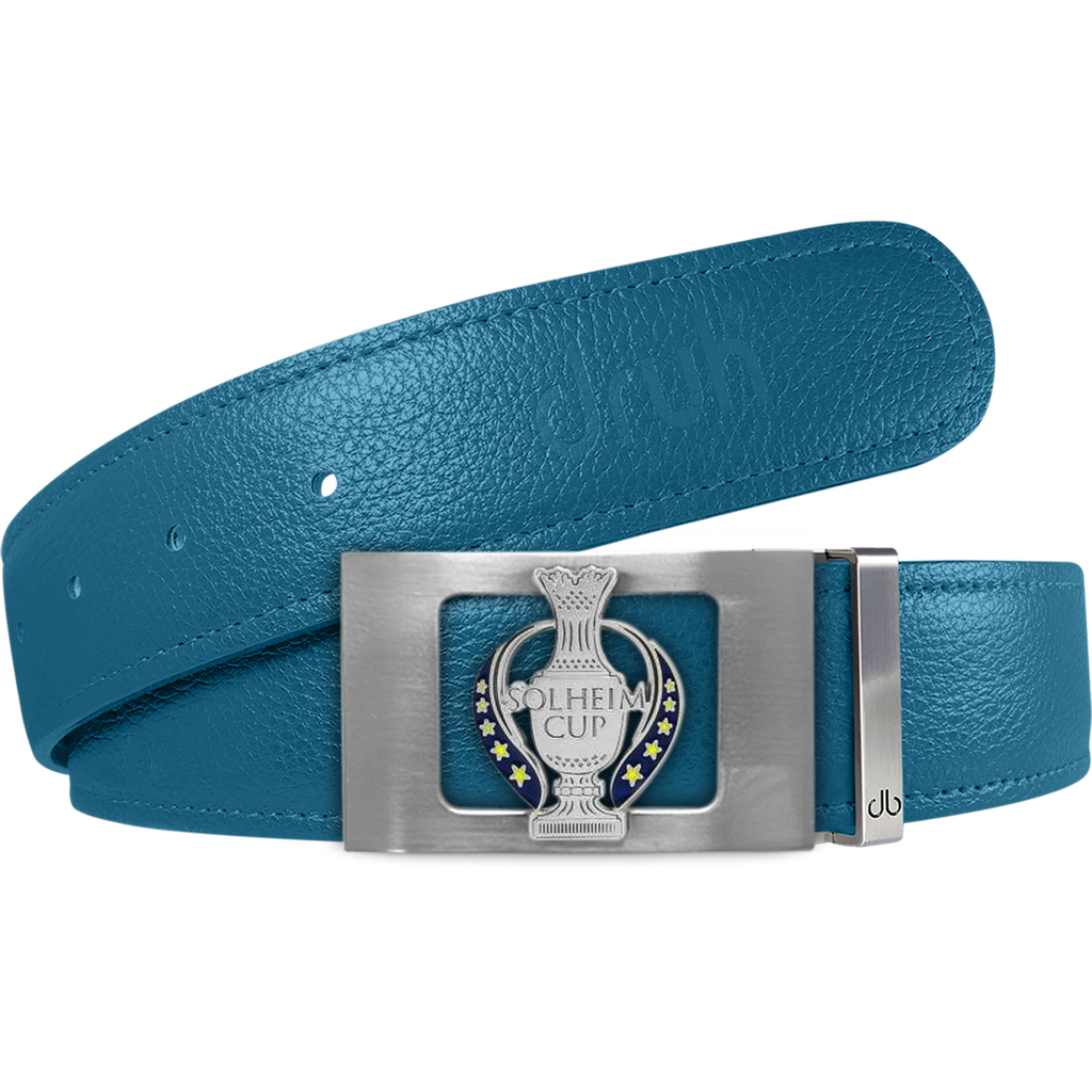 Aqua Full Grain Textured Leather Strap with Solheim Cup