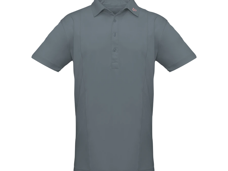 Grey Designer Polo Shirt