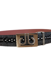 Black & White Stingray Belt