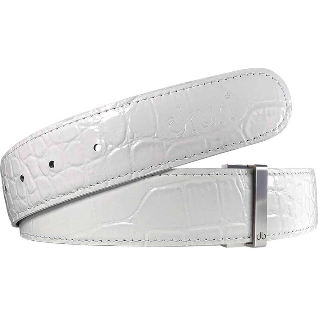 Lee Westwood 'Race to Dubai' Winners Edition White Croc with DB Repeat Buckle