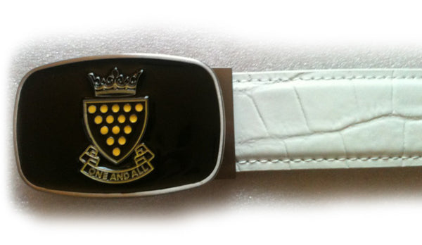 Cornwall Buckle with Croc strap - White - Mobile