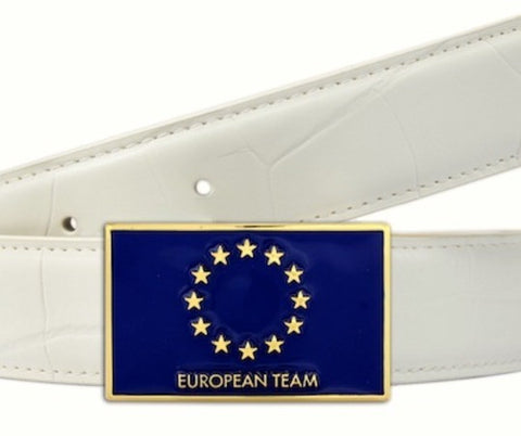 Solheim Cup European Team belt - Druh Belts and Buckles UK