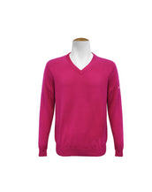 V Neck Jumper - Magenta