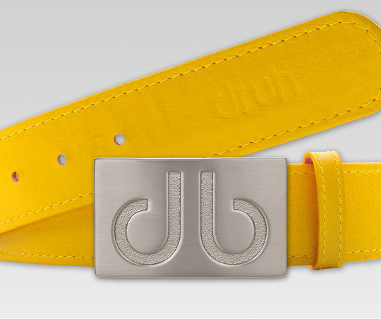 Plain Leather - Yellow - Druh Belts and Buckles UK  - Mobile