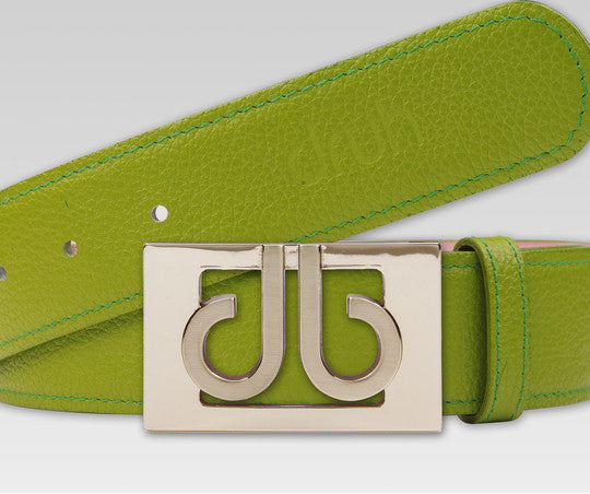 Druh Green Full Grain leather Strap with Green 3D Buckle - Druh Belts and Buckles UK  - Mobile