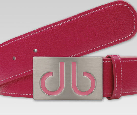 Druh Pink Full Grain leather Strap with Pink Infill Buckle - Druh Belts and Buckles UK  - Mobile