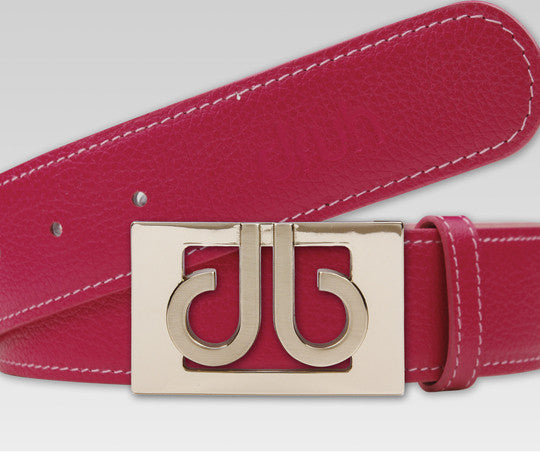 Druh Pink Full Grain leather Strap with Pink 3D Buckle - Druh Belts and Buckles UK  - Mobile