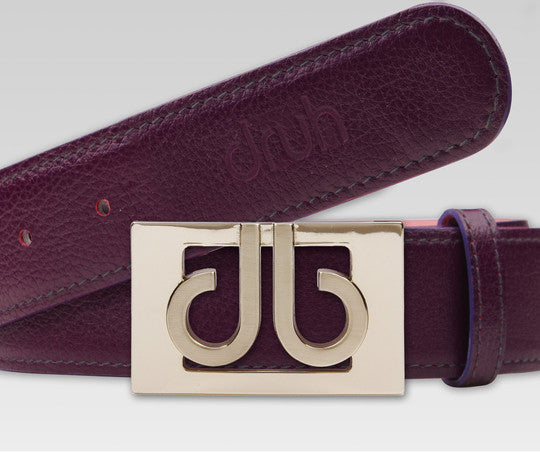 Druh Purple Full Grain leather Strap with Purple 3D Buckle - Druh Belts and Buckles UK  - Mobile