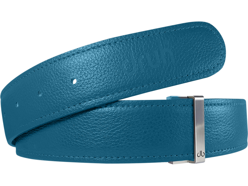 Aqua Full Grain Textured Leather Belt
