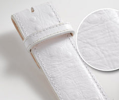 Ostrich White - Druh Belts and Buckles UK  - 3