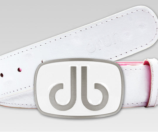 Ostrich White - Druh Belts and Buckles UK  - 1 - Mobile