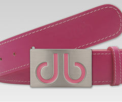 Plain Leather - Pink - Druh Belts and Buckles UK  - 2
