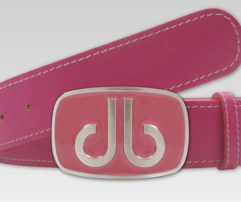 Plain Leather - Pink - Druh Belts and Buckles UK  - 1