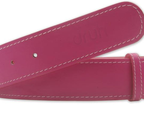 Pink Smooth Texture Leather Belt - Druh Belts and Buckles UK