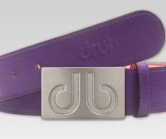 Plain Leather - Purple - Druh Belts and Buckles UK  - 2